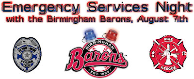 Birmingham Barons Emergency Services Night