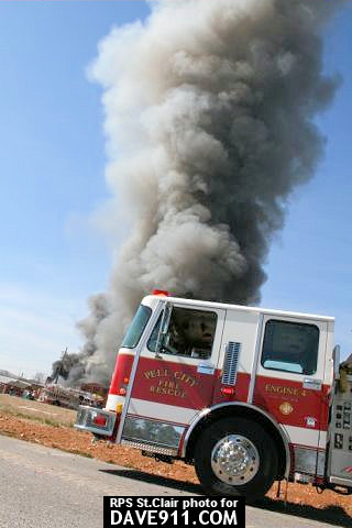 Avondale Mills Fire - Pell City Fire & Rescue