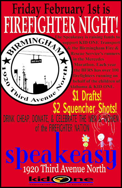 Speakeasy Firefighter Night